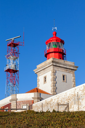The Cape Roca lighthouse, overlooking the Atlantic Ocean. Cape Roca forms the westernmost extent of mainland Portugal, continental Europe and the Eurasian land mass.