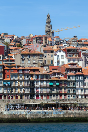 View of the Portos old town from across the Douro River