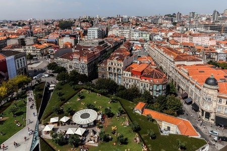View of Porto, Portugal from the top of the Clerics Tower