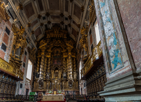 Porto's Cathedral main altar. The Cathedral is one of the most important tourist sights in Porto and a historical and architectural landmark of the city.