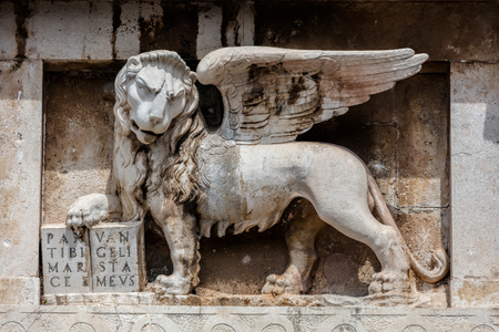 St. Mark's lion on the Zadar's Land Gate, built by Venetians in 1543. Stock fotó