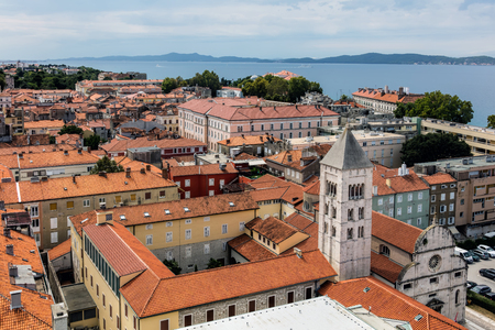 Zadar, the oldest continuously inhabited Croatian city, the second largest city of the region of Dalmatia Stok Fotoğraf