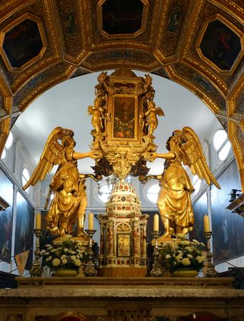 Saint Domnius Cathedral in Split, Croatia, originated in the 7th century AD in the Diocletians Mausoleum, 에디토리얼
