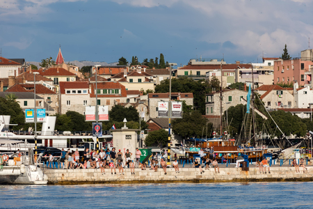 The Port of Split in Croatia, originally a trading post established by Greek settlers from the island of Vis and subsequently taken over by the Romans.