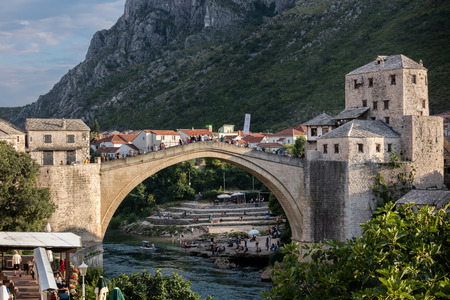 Mostars Old Bridge, an exemplary piece of Islamic architecture, built by the Ottomans in the 16th century,  one of Bosnia and Herzegovinas most recognizable landmarks