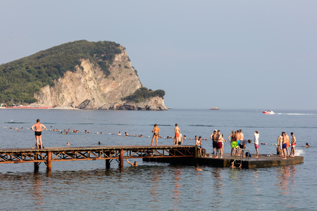 The Budva Riviera, the center of Montenegrin tourism, known for its well-preserved medieval walled city, sandy beaches and diverse nightlife. Editorial