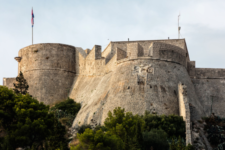 The Fortica fortress, a.k.a. Spanish Fort on the Hvar island in Croatia, constructed following the gunpowder explosion in 1579 which devastated the old fortress. Editöryel