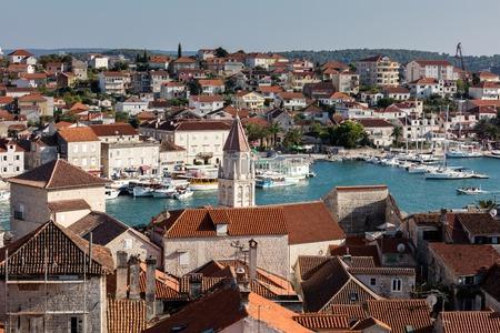 Trogir, a historic town on the Adriatic coast of Croatia.