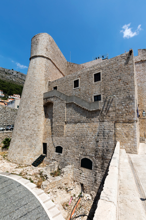 Dubrovnik, Croatia, July 29, 2018: Revelin Fort in Dubrovnik, Croatia, completed in 1549 and survived the 1667 earthquake intact. 版權商用圖片