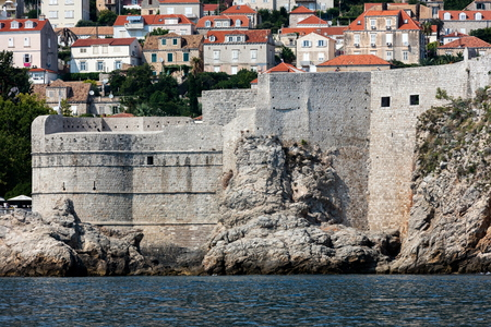Fortress Bokar in Dubrovnik, Croatia, started in 1461, completed to its preset state in 1570, considered to be an example of harmonious and functional fortification architecture. Редакционное