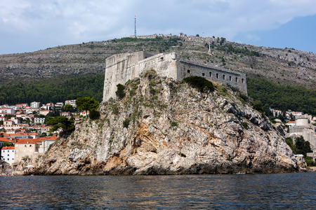 Medieval fortress of Lovrijenac a.k.a Fort Lawrence in Dubrovnik, Croatia, rebuilt after the 1667 earthquake. The fort is one of Dubrovnik's major tourist attractions. Editöryel