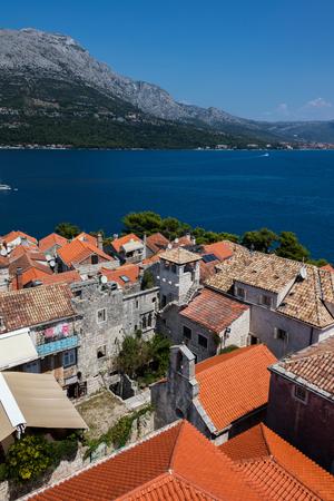 Korcula, a historic fortified town on the Adriatic island of Korcula in Croatia