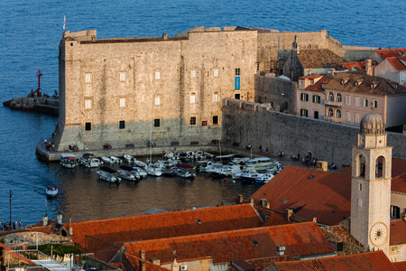 Fort of St. John in Dubrovnik, Croatia, dates back to the 16th century, guards the entrance to Dubrovniks Old Harbor. Redakční