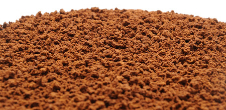 granular: The granular instant coffee. Close up.