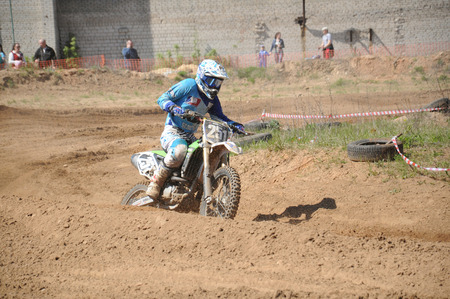 motobike: KOVROV, RUSSIA - MAY 10, 2015: Motocross competitions