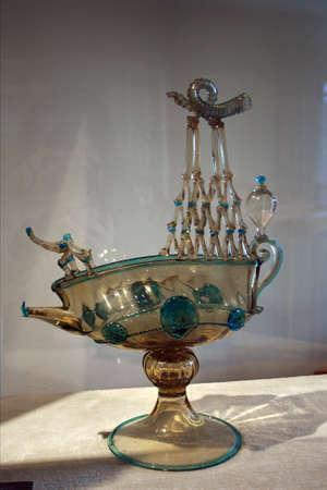 murano: Ancient glass in Murano museum