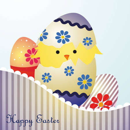 Happy Easter postcard Stock Vector - 12922284