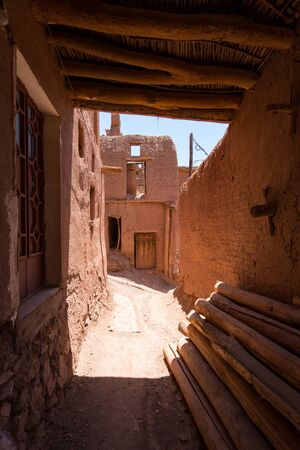Mountain village Abyaneh in central part of Iran.