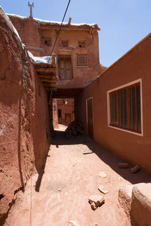 Mountain village Abyaneh in central part of Iran. UNESCO world heritage site.