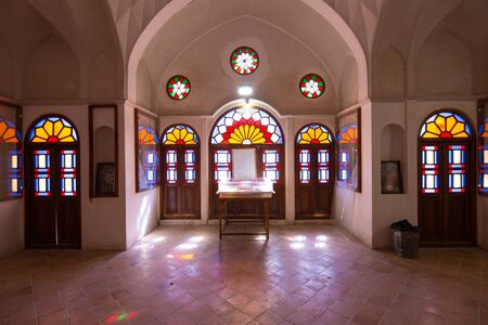 Tabatabaei House in Kashan, a marvel of arts and architecture Stock Photo
