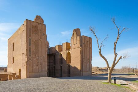 The Ancient Malek Zuzan Mosque located in Khorasan, Iran. It has been constructed around 800 years ago.