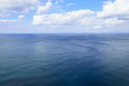 aran islands: Atlantic ocean and blue cloudy sky, Aran islands Stock Photo