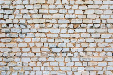 paredes de ladrillos: Pared de ladrillo vieja. Ladrillos Foto de archivo