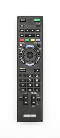 ユニバーサル リモート コントロールは、白い背景で隔離。古いテレビのリモート コント ローラー。 写真素材