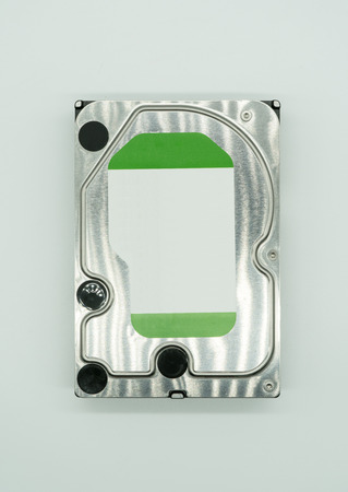Hard disk drive isolated on a white background.