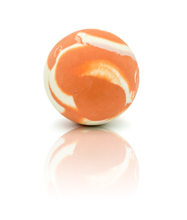 colorful rubber marble ball isolated on white background