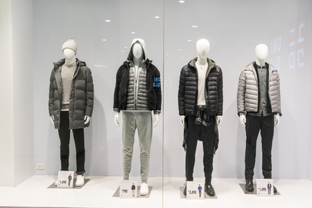 Uniqlo at Emquatier, Bangkok, Thailand, Oct 27, 2017 : Luxury and fashionable brand window display. 