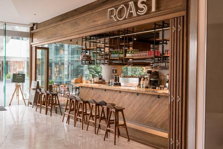 Roast at Emquatier, Bangkok, Thailand, Jan 6, 2018 : Cafeteria with modern interior design.