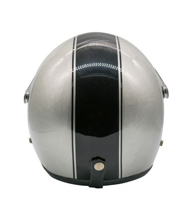 Motorcycle helmet over isolate on white background with clipping path Imagens