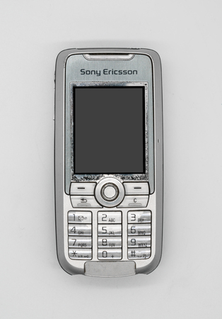 Used Sony Ericsson K700 Mobile Phone. Bangkok, Thailand - Feb 10, 2018: K700 was introduced in 2004 as a high-end mobile phone. Illustrative, editorial.