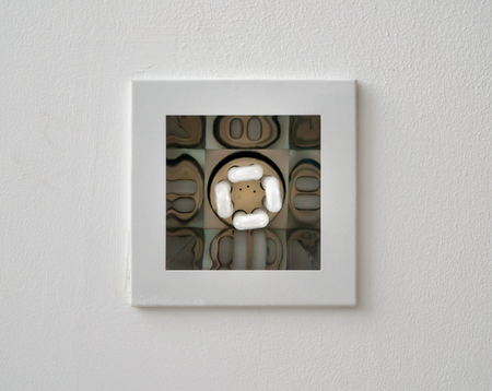 Closeup of square light recessed lighting in ceiling tile Stock Photo