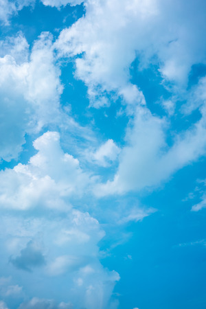 Blue sky with white clouds for background with copy space 写真素材 - 101840796