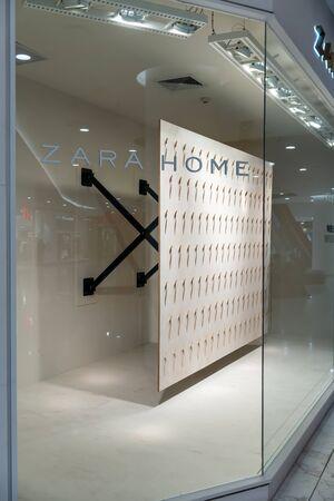 Zara Home shop at Emquatier, Bangkok, Thailand, Mar 8, 2018 : Luxury and fashionable brand window display design. Editorial