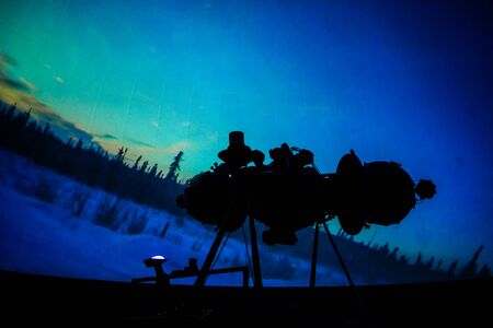 Planetarium in Bangkok, Thailand on May 8, 2019. The projector located in Bangkok Planetarium.