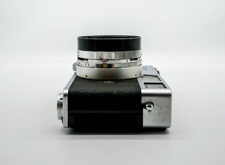 Bangkok, Thailand - April 17, 2019 : The Canonets were a series of rangefinder cameras made by Canon from the early 1960s to the early 1980s.