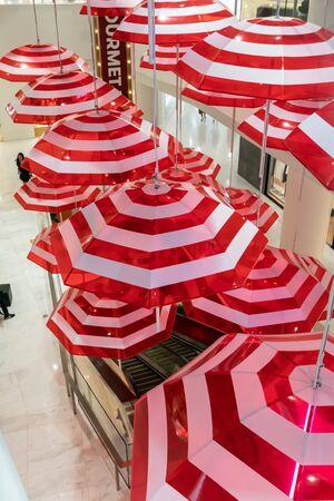Bangkok, Thailand - April 25, 2019 : Installation design in Emquartier Shopping Mall. Editorial