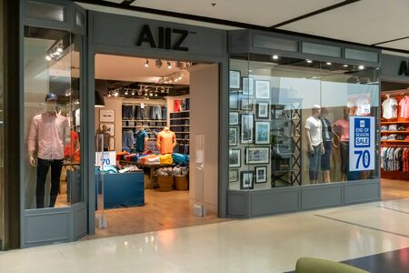 AIIZ shop at Central Ladprao Bangkok, Thailand, June 23, 2019 : Fashionable clothing brand front view from entrance. Editorial