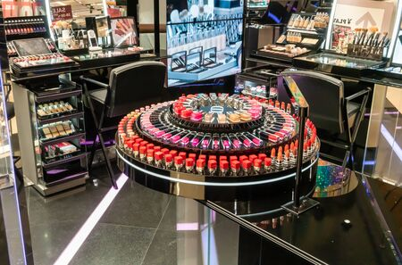 Dior cosmetic counter brand Bangkok, Thailand-June 23, 2019 : The Christian Dior store in the Central Ladprao Shopping Mall.