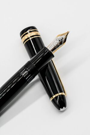 Montblanc Meisterstuck. Bangkok, Thailand - July 13, 2019 : Montblanc fountain pen isolated on white background.