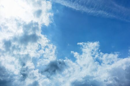 Blurred blue sky with cloud