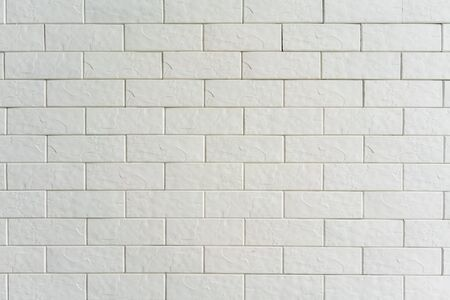 White brick wall texture for  or wallpaper. Stok Fotoğraf