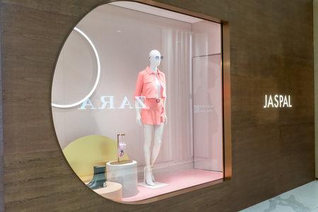 Jaspal shop at Siam Paragon, Bangkok, Thailand, Nov 28, 2020 : Fashionable clothing and accessories brand display.