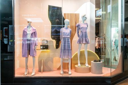 Jaspal shop at Mega Bangna, Bangkok, Thailand, Nov 27, 2020 : Fashionable brand window display. New collection of modern classic clothings showcase at the store.