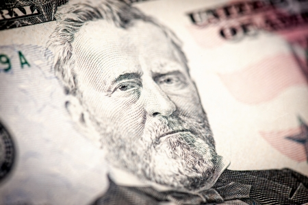 50 dollar bill: President Ulysses S. Grant from 50 dollar bill.