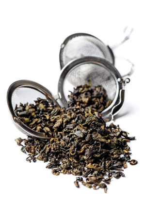 Dark green tea with a memorable fragrance and a pleasingly mild bitter taste. photo