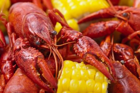 Close-up of Crayfish Boil.